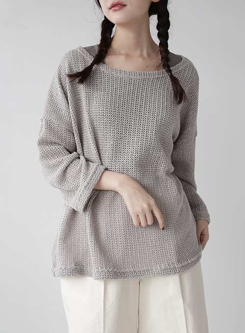 Chesty over-fit point knit (3colors)